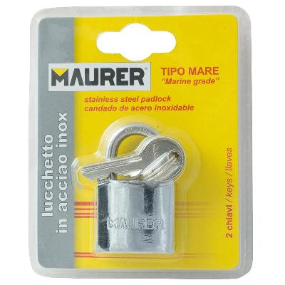CANDADO MAURER INOXIDABLE ARCO NORMAL 30MM