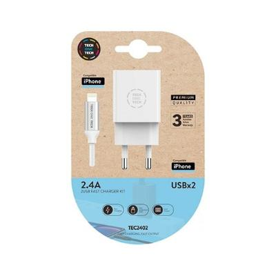 CARGADOR DOBLE   CABLE MICRO USB TECH ONE TECH