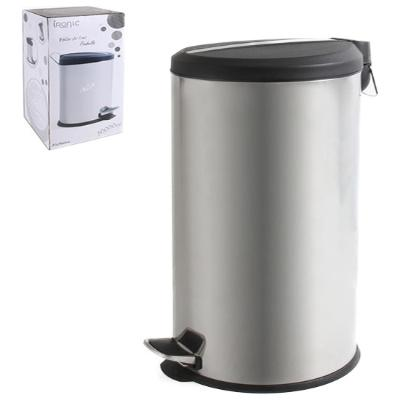 CUBO BASURA METAL BRILLO 30L IRONIC