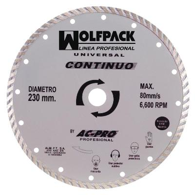 DISCO DIAMANTE WOLFPACK CONTINUO  115MM