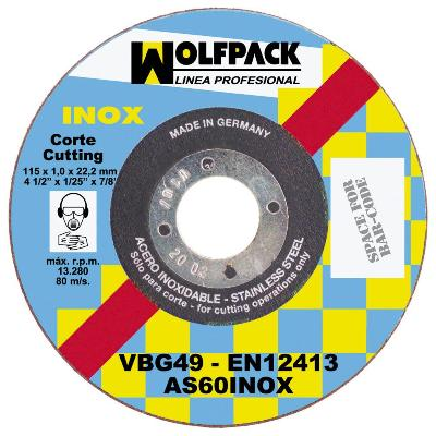 DISCO WOLFPACK INOXIDABLE 230X1,9X22,2
