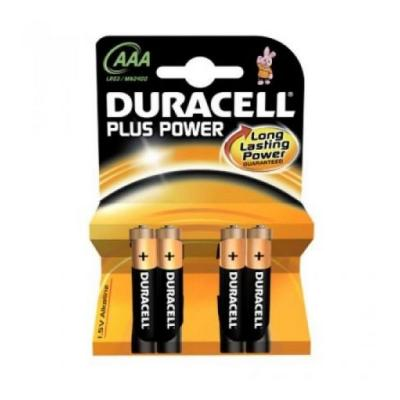 DURACELL PILA ALCALINA PLUS POWER LR3 AAA PACK-4 PILAS