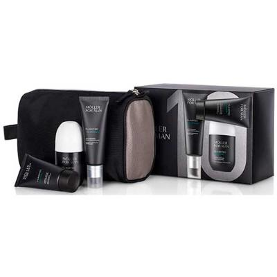 ESTUCHE MOLLER MAN BALSAMO FLASHTEC ANTI IRRITATION 50 ML + LIMPIADOR FLASHTEC CLEASING 50 ML + DESODORANTE TRIPLE ACCIóN 75 ML + NECESER