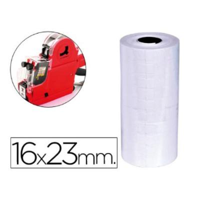 ETIQUETAS Q-CONNECT BLANCA 16 X 23 MM LISA -ROLLO 700 ETIQUETAS PARA ETIQUETADORA Q-CONNECT (PACK DE 10)