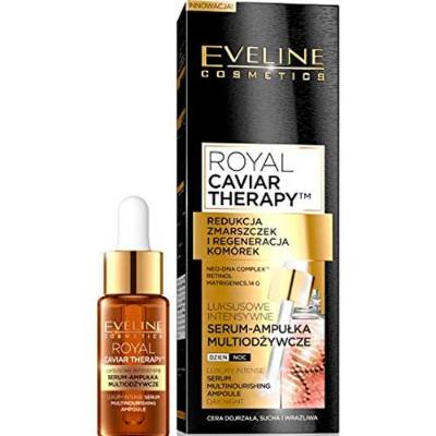 EVELINE ROYAL CAVIAR THERAPY LUXURY INTENSE SERUM MULTINOURISHING AMPOULE