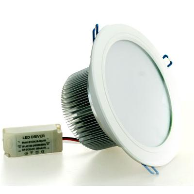FOCO LED 24W LUZ FRIA EMPOTRABLE TIPO DOWN LIGHT DIAMETRO 16,5CM/19,5CM MARCO BLANCO PROFUNDIDAD 8CM
