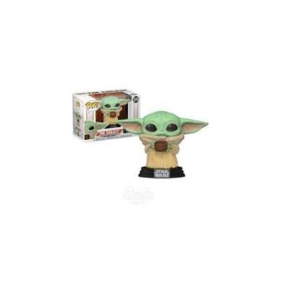 FUNKO POP STAR WARS THE MANDALORIAN BABY YODA CON CUENCO