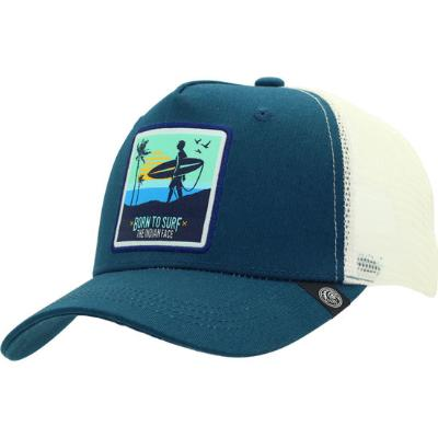 GORRA THE INDIAN FACE BORN TO SURF AZUL Y BLANCO