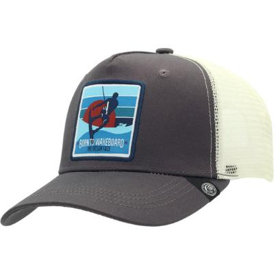 GORRA THE INDIAN FACE BORN TO WAKEBOARD GRIS Y BLANCO