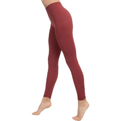 LEGGINS PUSH UP COSMÉTICO-TEXTIL COLOR MARSALA DE ANAISSA