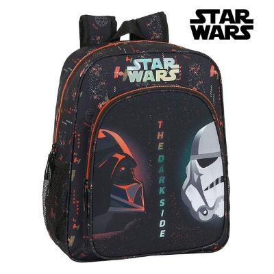 MOCHILA ESCOLAR STAR WARS THE DARK SIDE NEGRO NARANJA