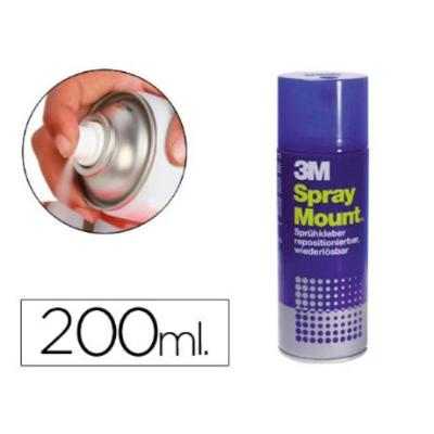 PEGAMENTO SCOTCH SPRAY MOUNT 200 ML ADHESIVO REPOSICIONABLE POR TIEMPO LIMITADO 200 ML
