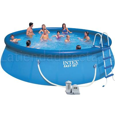PISCINA INTEX CON ESCALERAS Y DEPURADORA EASY SET 549X122CM 56905  PISCINAS HINCHABLES