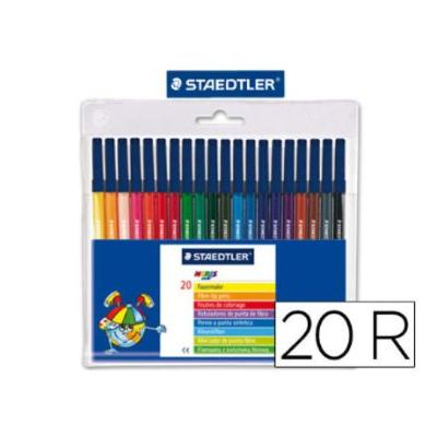 ROTULADOR STAEDTLER NORIS CLUB ESTUCHE DE 20 COLORES ROTULADORES