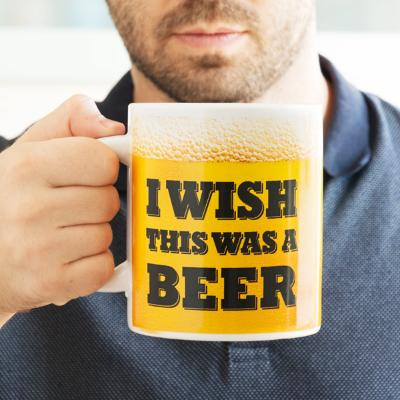 TAZA XL I WISH THIS WAS A BEER