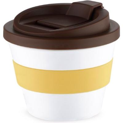 VASO CAFÉ CON TAPA MULTICOLOR 250 ML
