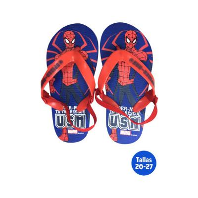 ZAPATILLAS PLAYA CON GOMA SPIDERMAN AZUL CHANCLAS DE PLAYA Y PISCINA
